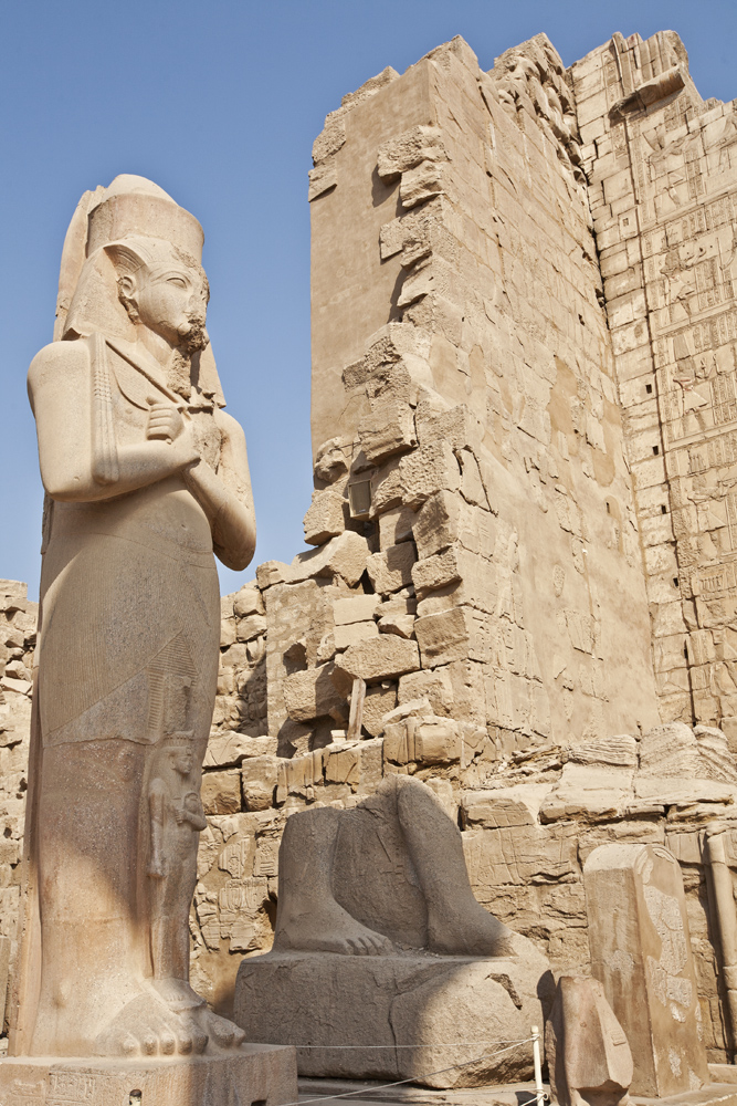 Statue of Ramses at Temple of Karnak