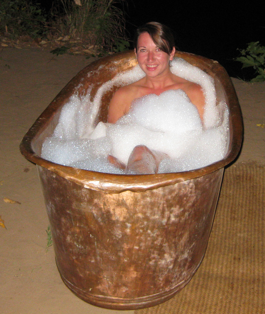 Riverside Bath, Lukula Selous, Tanzania