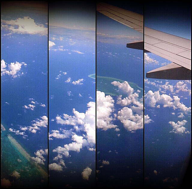 Flying over Belize