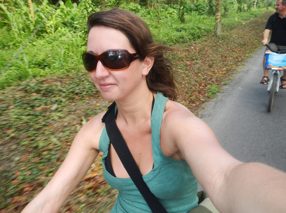 Bike ride through Puerto Viejo, Costa Rica