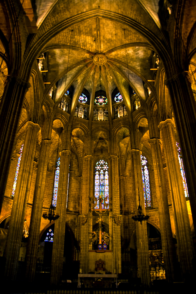 barcelona-spain-church-interior