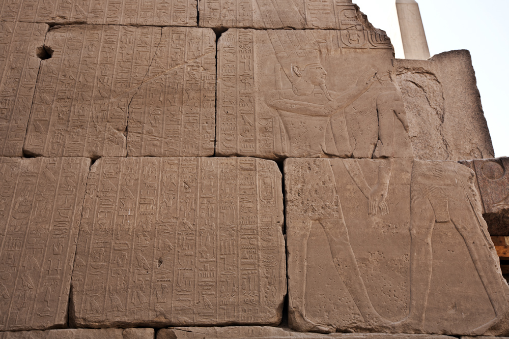 Hieroglyphs, Temple of Karnak