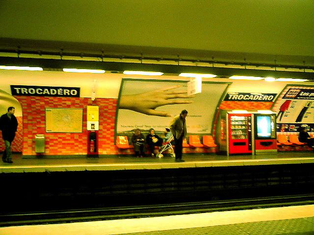 Trocadero Metro, Paris, France