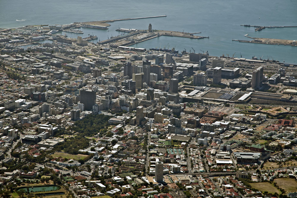 City Bowl from Table Mountain, Cape Town