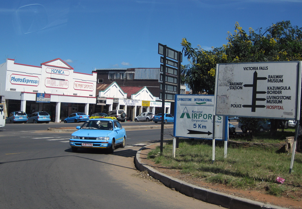 Downtown Livingstone, Zambia
