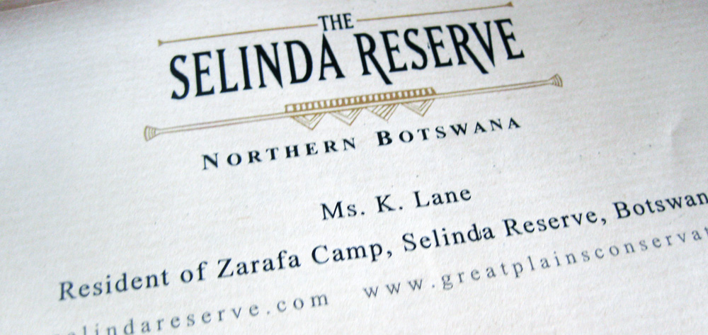 Zarafa Camp, Selinda Reserve, Botswana