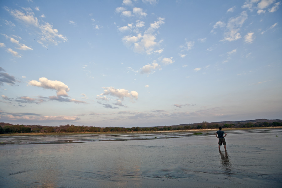 Lukula Selous River, Sundown, Tanzania