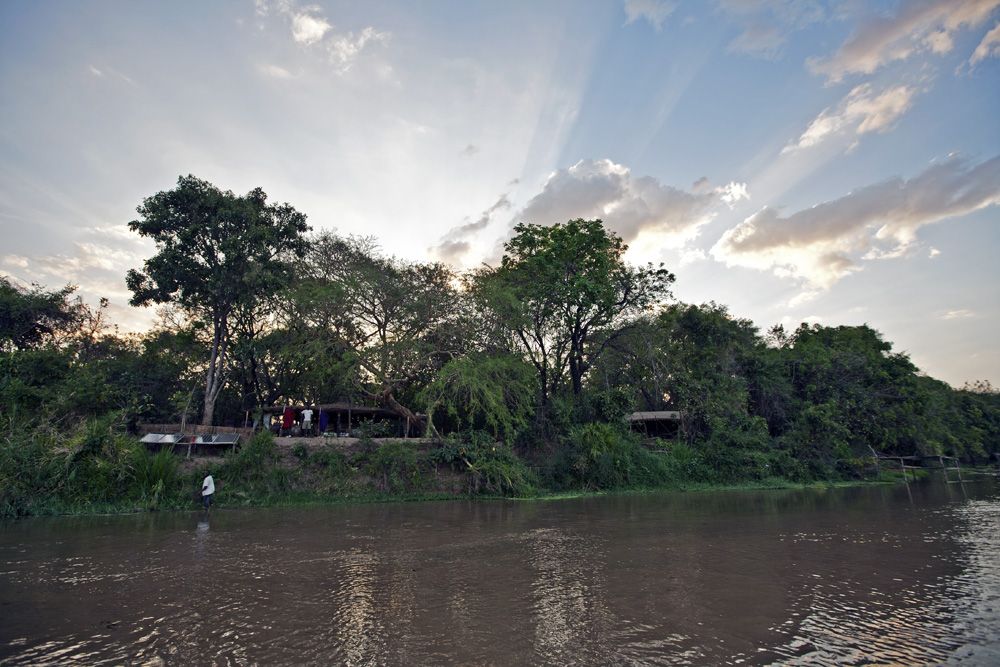 Camp from Lukula Selous River, Tanzania