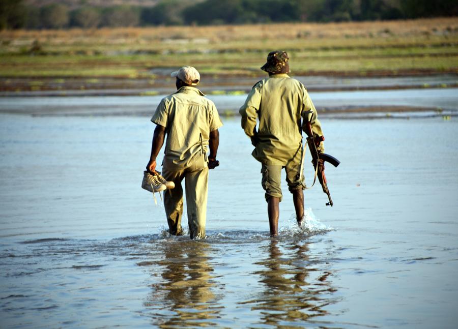 Rangers Chasing Poachers, Tanzania
