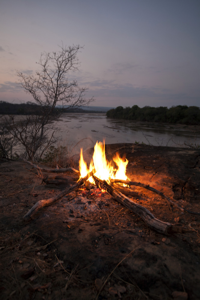 Fire on the Luwego River, Lukula Selous, Tanzania