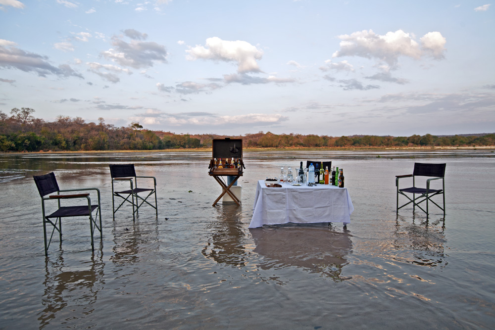 Lukula Selous River, Sundowners, Tanzania