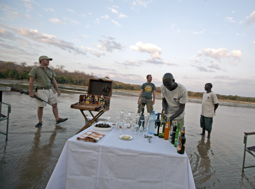 Sundowners, Lukula Selous River, Tanzania