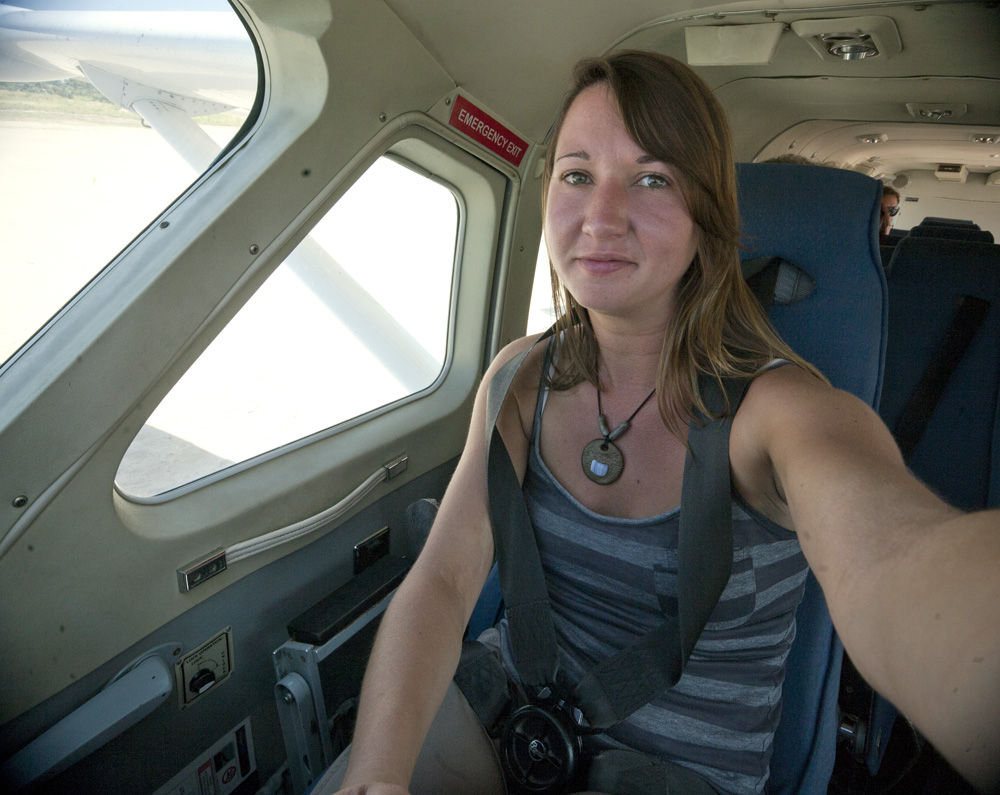 Kelly, Copilot Flying over the Okavango Delta, Botswana