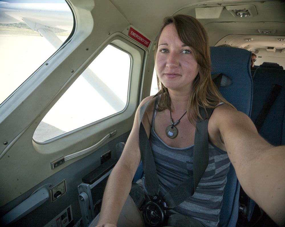Kelly, Copilot Flying over the Okavango Delta, Botswana