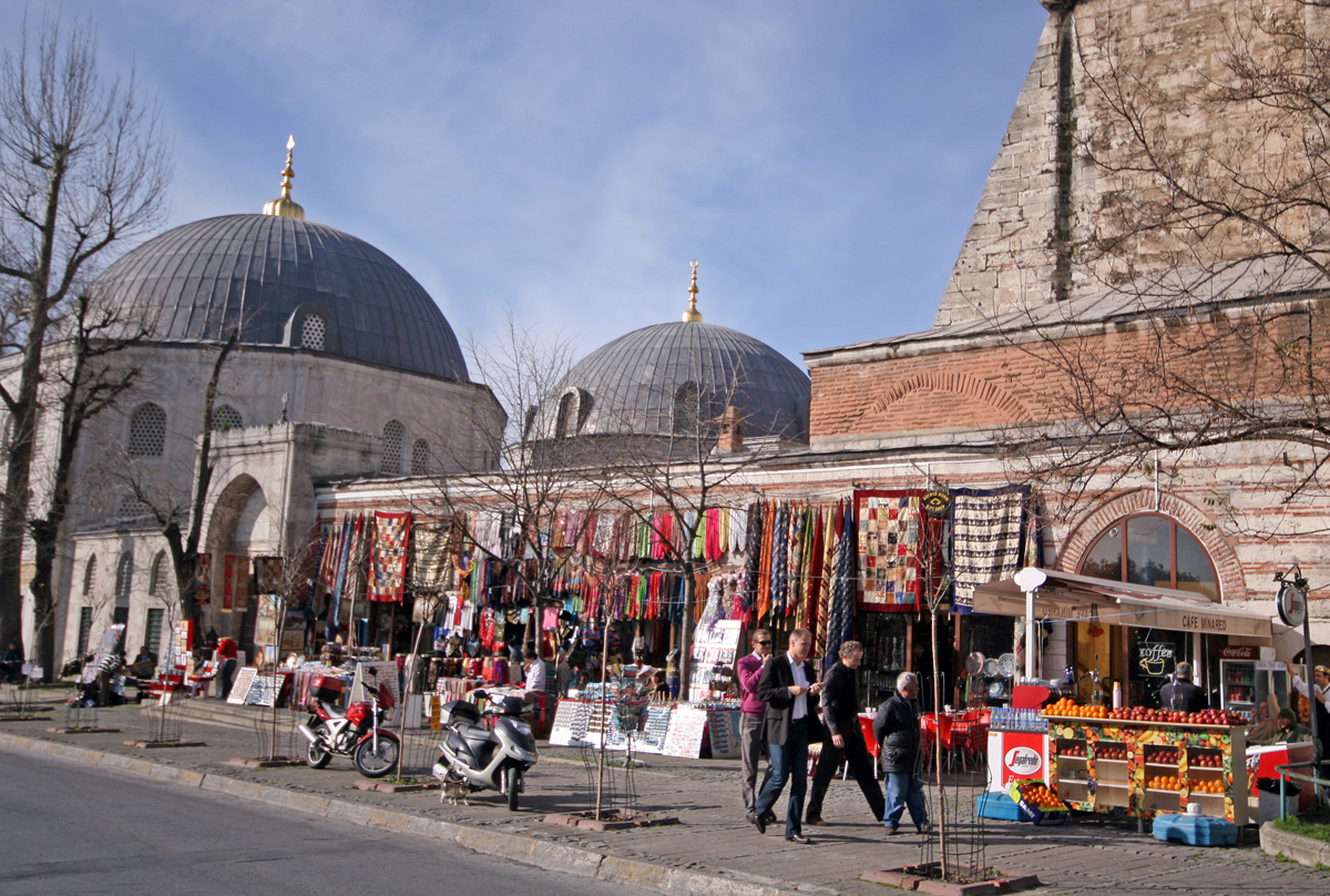 Blue Mosque & Shops, Istanbul, Turkey