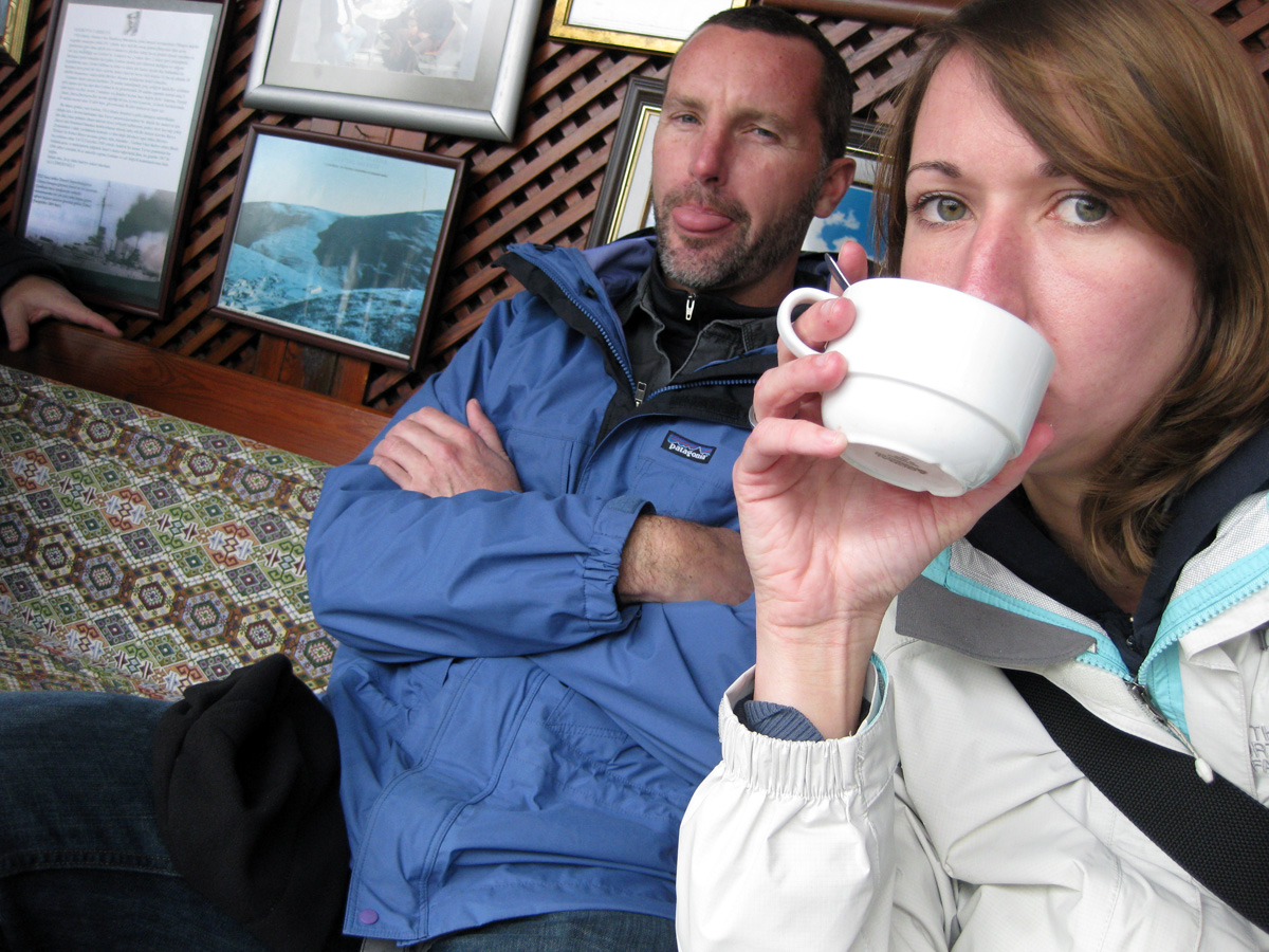 Drinking Tea, Cold in Istanbul