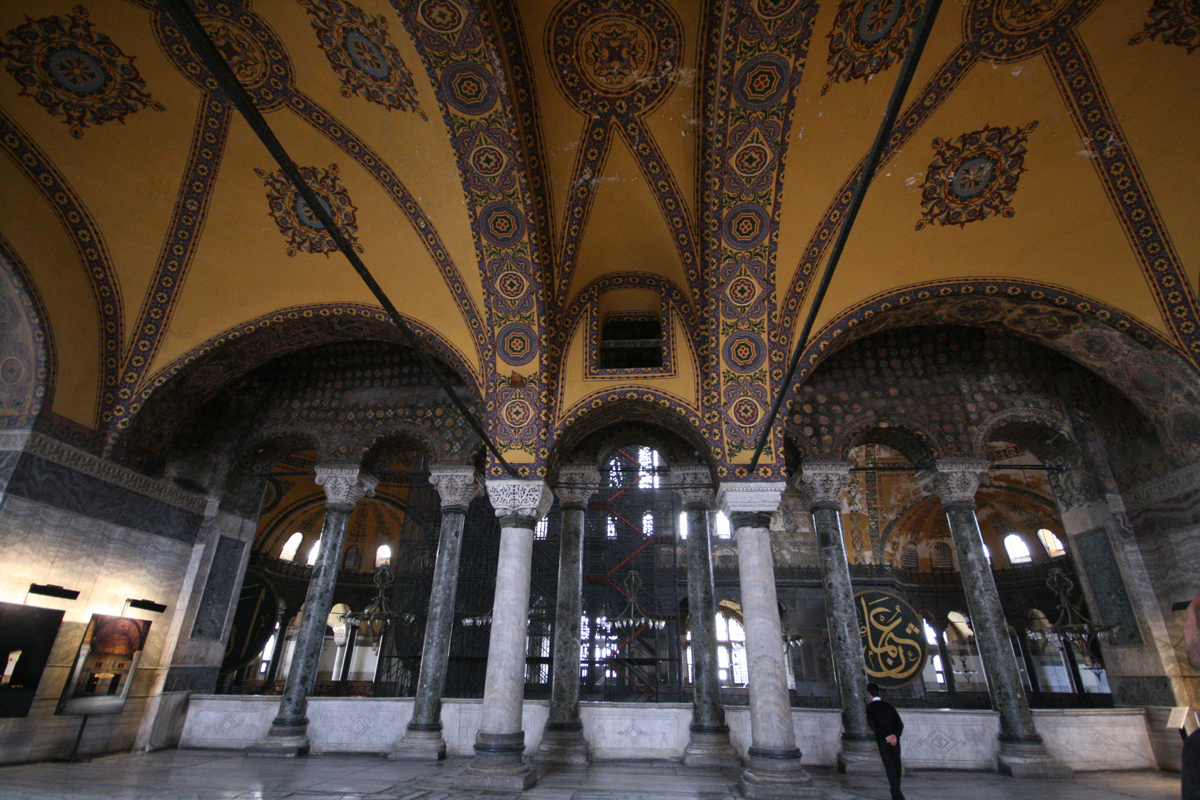 Interior, Hagia Sophia, Istanbul, Turkey