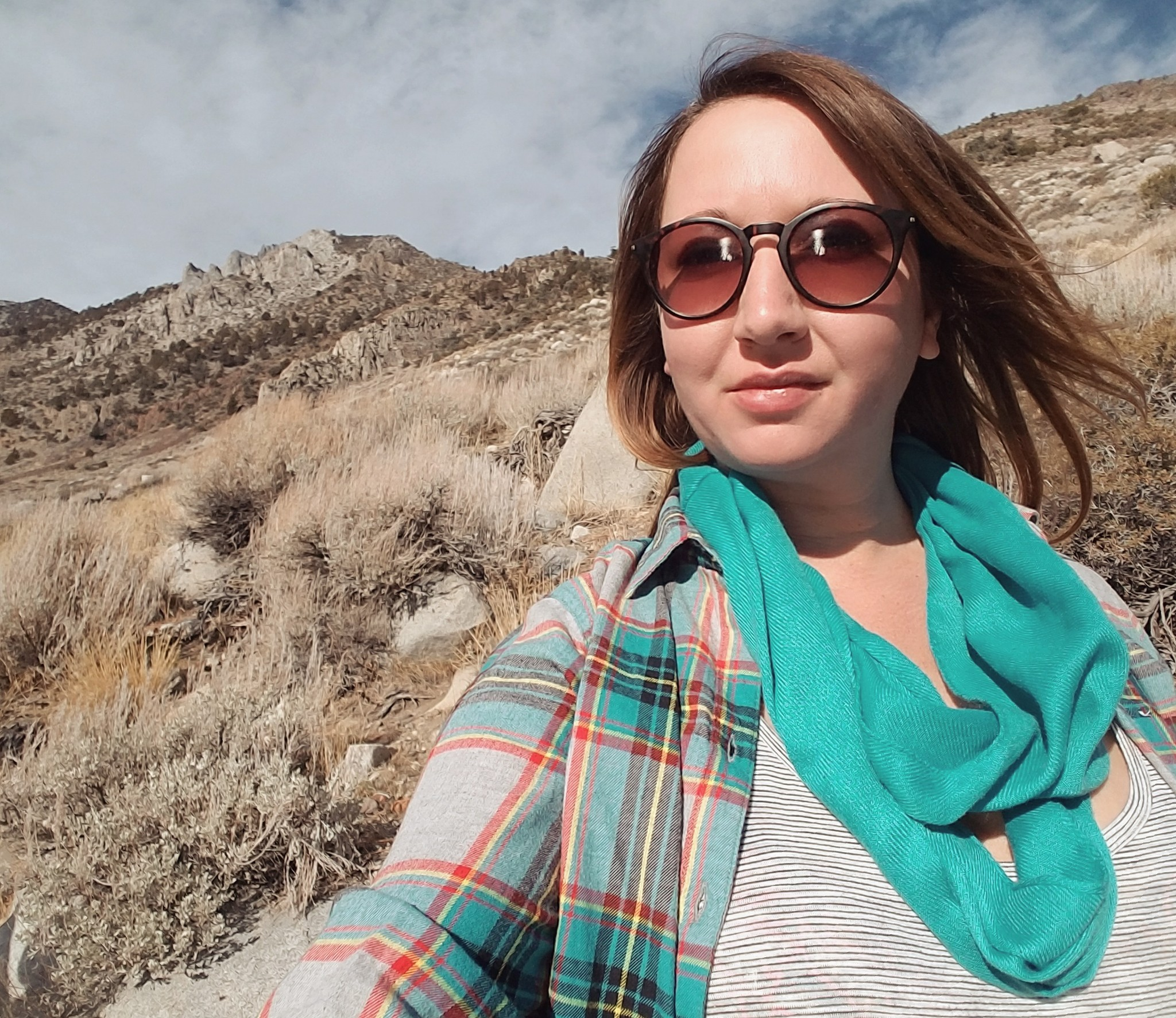 Convict-lake-hike-selfie